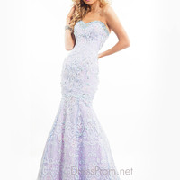 Sweetheart Embroidered Mermaid Prom Dress By Rachel Allan 6838