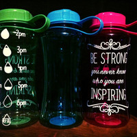 Inspirational motivational fitness water bottle gym bottle workout inspiration protein drink fitness fun