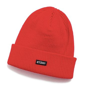 HO19 Small Patch Watch Cap Beanie Red