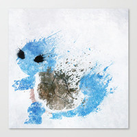Squirtle Stretched Canvas by Melissa Smith