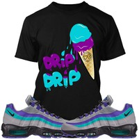 Nike Air Max 95 Wolf Aqua Sneaker Tees Shirt - ICE CREAM PG
