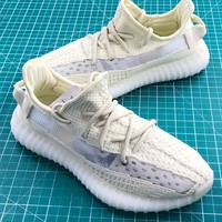 Adidas Yeezy 350 V2 Static Cream Yellow Sport Running Shoes - Best Online Sale