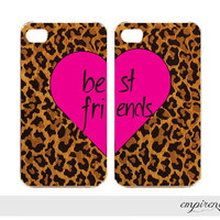 BFF LEOPARD hot pink iPhone case iPhone 4 iPhone 5 by empirenvy