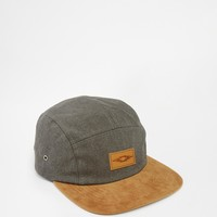 ASOS 5 Panel Cap In Gray With Contrast Peak