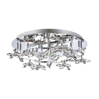 Eurofase Lighting 25678-017 Vista Chrome 12 Light Flushmount with Clear Shade