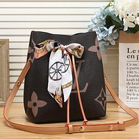 Louis Vuitton LV LV Women Fashion Leather Bucket Bag Crossbody Shoulder Bag Satchel