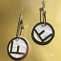 Fendi Fashion New Letter Long Earring Women Accessories
