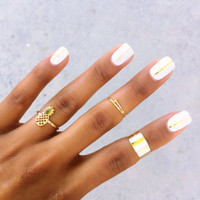 Pineapple Ring Set