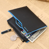 2017 Fashion Luxury Brand Men Wallets Faux Leather Bifold Small Short Wallet Purse Pocket for Money Coin ID Credit Card Holder