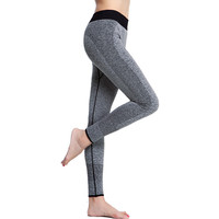 Women Yoga Sports Pants Elastic Tights Fitness Running Trousers Slim Leggings