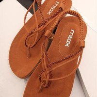 Braided Flat Sandals BCH060507 from topsales