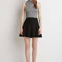 Fluted Stretch Knit Skirt