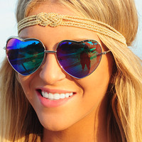 See Your Love Sunglasses: Blue