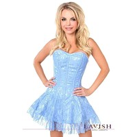 Daisy Corsets Lavish Pastel Blue Lace Corset Dress