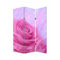 Gorgeous Rose Wood Canvas Room Divider