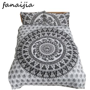 FANAIJIA bohemia Elephant 3d bedding sets boho wedding duvet cover set 3pcs bedsheet Pillowcase full super king size Bedlinen