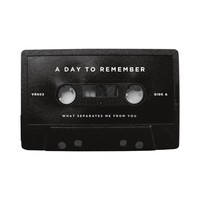 A Day To Remember: What Separates Me From You Cassette Tape (Black)
