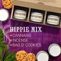 Hippie Mix - Set of 3: Cannabis, Incense, and Bag O Cookies Scented Candles