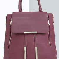 Laila Metal Detail Structured Day Bag