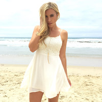 Daisy Day Dress In Ivory