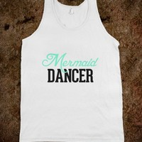 Mermaid Dancer-Unisex White Tank