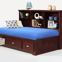 Twin Size Ethan Merlot Lounge Bed