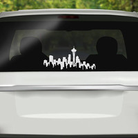 Seattle Skyline Decal - Washington State Car Decal -  Space Needle Sticker - Washington Sticker - Bumper sticker - Vinyl Decal - Car Sticker