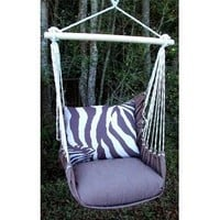 Amazon.com: Outdoor Indoor Hammock Swing Chair w/ Pillow BROWN White ZEBRA stripes: Everything Else