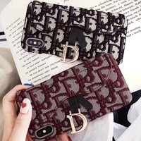Dior Retro Stylish iPhone Phone Cover Case For iphone 6 6s 6plus 6s-plus 7 7plus iPhone X XR XS XS MAX