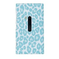 Mint Green Leopard Embossed Hard Case for Nokia Lumia 920 (AT&T) - Includes DandyCase Keychain Screen Cleaner [Retail Packaging by DandyCase]