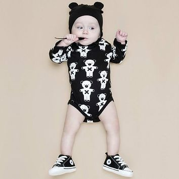 born Winter Rompers Cute Toddler Baby Girl Boy Bear Jumpers Rompers Playsuit Outfits Clothes