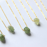 Fluorite Necklace Green Stone Necklace Rough Raw Crystal Pendant Fluorite Rough Small Green Stone Green Necklace Pendant Boho Fluorite