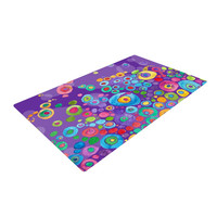 """Catherine Holcombe """"Inner Circle Purple"""" Lavender Woven Area Rug"""
