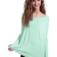 Authentic Piko Long Sleeve Top, Mint