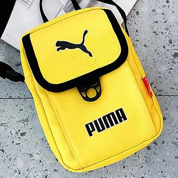 PUMA New fashion letter print handbag shoulder bag crossbody bag Yellow
