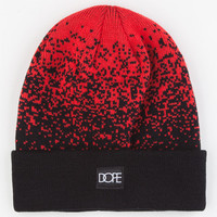 Dope Speckled Cuff Beanie Red One Size For Men 23419330001