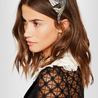 Gucci - Antiqued silver-plated crystal headband