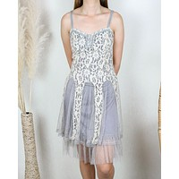 Ryu Time Will Tell Lace Dress in Grey