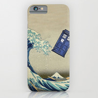 The Great Wave Doctor Who iphone case