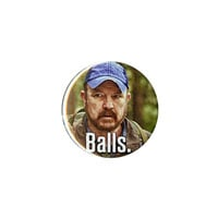 Supernatural Bobby Balls Pin