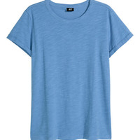 Slub Jersey T-shirt - from H&M