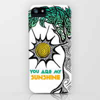 You Are My Sunshine Sunny Tree iPhone Case by Pom Graphic Design