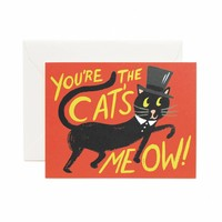 You're the Cat's Meow Greeting Card by RIFLE PAPER Co. | Made in USA