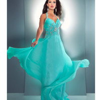 Mac Duggal Prom 2013- Mint Gown With Embellishments - Unique Vintage - Cocktail, Pinup, Holiday & Prom Dresses.
