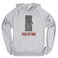 Rent (No Day But Today)-Unisex Heather Grey Hoodie