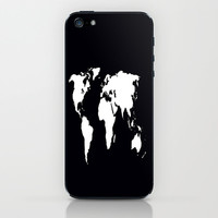 World Outline  iPhone & iPod Skin by Elyse Notarianni
