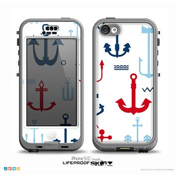 The Various Anchor Colored Icons Skin for the iPhone 5c nüüd LifeProof Case