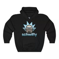 Rick and morty schwifty adult funny hilarious hoodie