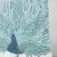 Peacock Shower Curtain - Urban Outfitters