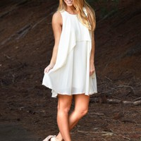 Take Me By The Hand Dress in Cream   Monday Dress Boutique